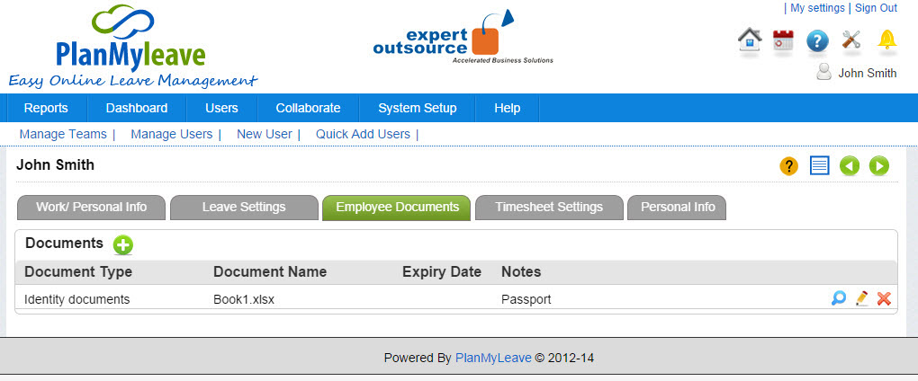 Employee Record view - Employee Documents