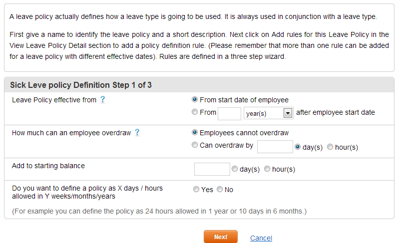 Add Leave Types - Step2